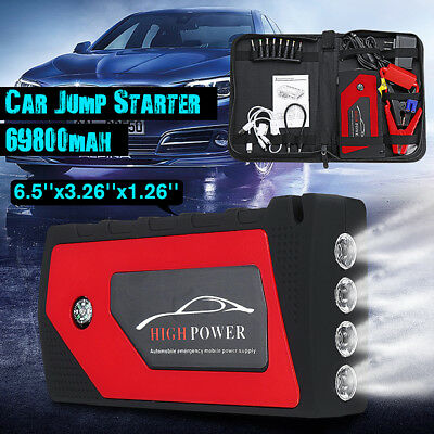 69800mAh Portable Device 4USB Car Jump Starter Emergency Charger Power Bank