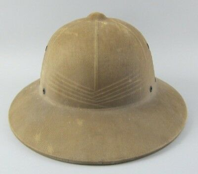 US Navy Pith Helmet WWII Seabee Cap Hat Cover Marine Corps Army USN