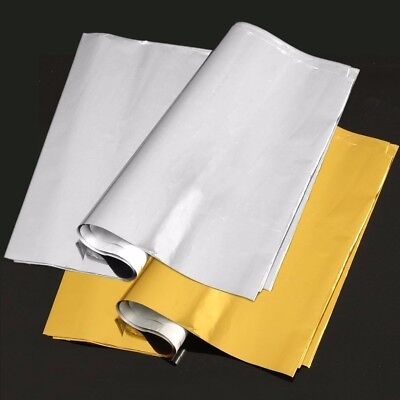 50 Sheets A4 Gold/Sliver Transfer Foil Paper Laser Printer Machine Hot Laminator
