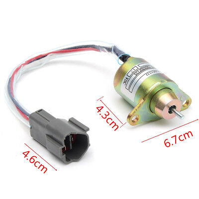 AU Metal Fuel Shutdown Shut Off Down Stop Solenoid Valve For Yanmar 119233-77932