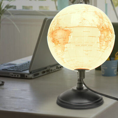 14/20/25cm LED World Globe Earth Map Night Light Lamp Kids Room Table Decor Gift