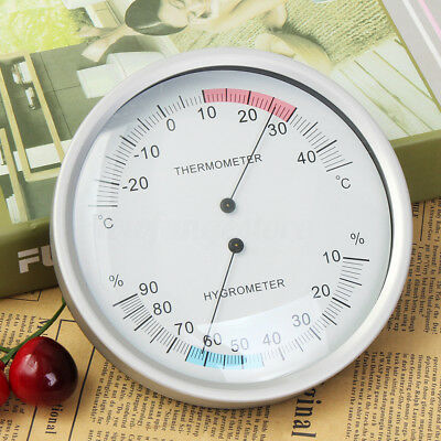 AU Two In One Wall Hanging Barometer Weather Thermometer Hygrometer Home 132mm