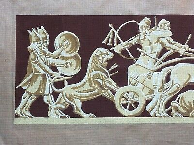 """Large Vintage  Myart  Tapestry Canvas  #   -   """" Chariot"""""""
