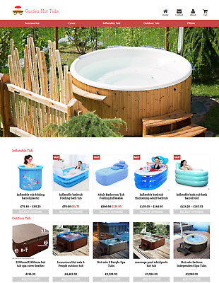 Established Hot Tubs Profitable Website Business For Sale - Dropshiping