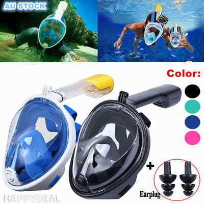NEW Full Face Diving Seaview Snorkel Snorkeling Mask Swimming Goggles For GoPro