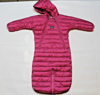 Patagonia baby girl bunting INFANT SNOW SUIT GOOSE DOWN 6m hood