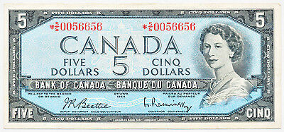 Bank Of Canada 5 Dollars 1954 Replacement *ss0056656 Bc39Ba - F/vf