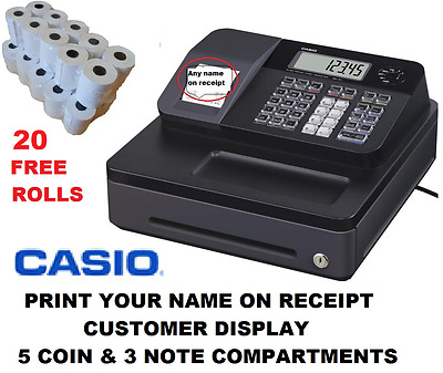 Brand New Casio SE-G1 SD-B Cash Register Shop Till EPOS 20 FREE ROLLS & Support