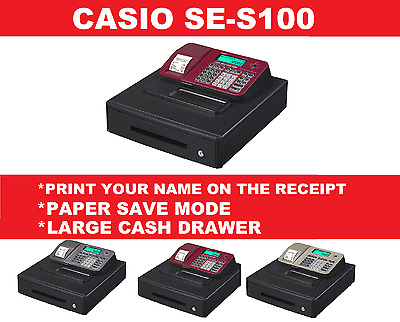 Casio SE-S100 Cash Register Till. Includes Phone support  & Help Videos