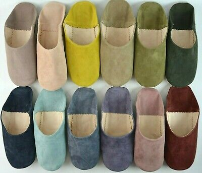 3551fda24adda MOROCCAN LEATHER BABOUCHE Slippers Soft Suede Mules Slides Loafers ...