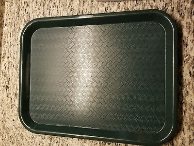 """Carlisle CT121608 Café Standard Cafeteria / Fast Food Tray, 12"""" x 16"""", Forest"""