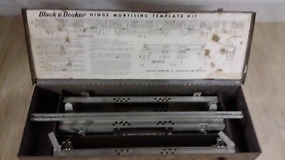 Black & Decker Hinge Mortising Template Kit In Original Case Nice Condition