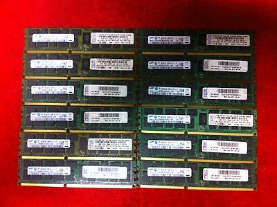 Samsung 8GB 2Rx4 PC3-10600R Servery Memory (for scrap gold recovery)