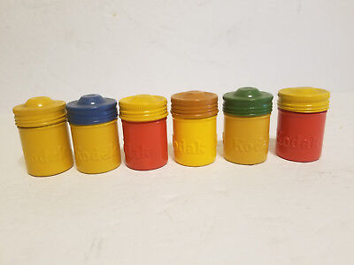 Lot of Vintage Metal Kodak Film Containers. Canisters.