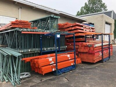 Used Tear Drop Pallet Racking Beams and Uprights