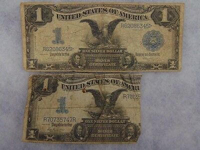 1899 Black Eagle $1 One Dollar Blue Seal Note 2p As Is Ungraded