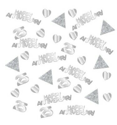 28g SILVER ANNIVERSARY CONFETTI 25 YEARS 25th PARTY NEW TABLE DECORATION WEDDING