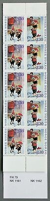 H79 Norway 1992 Christmas Post dwarfs MNH stamp booklet Norge Julpost Norwegen