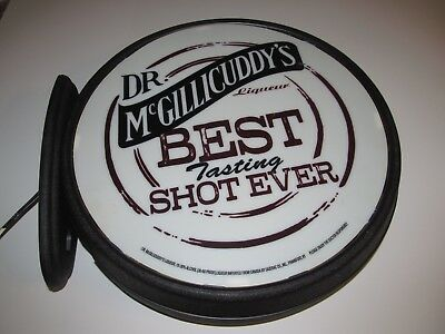 Dr. McGilliCuddy's Double Sided Lighted Pub Wall Sign Best Tasting Shot Ever