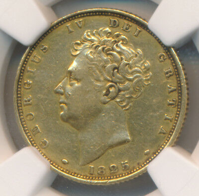Great Britain George Iv Gold Sovereign 1825 Ngc Xf45