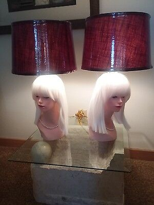 Mannequin Head Lamp Set Of Two