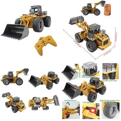 Fistone RC Truck Alloy Shovel Loader Tractor 2.4G Radio Control 4 Wheel Bulldoz