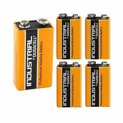 5X Genuine Duracell Industrial 9V PP3 MN1604 Block Alkaline Batteries Replace...