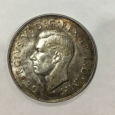 Canada 1946   George VI Better  Date  Fifty  Cents Fully Lustrous Some Tone