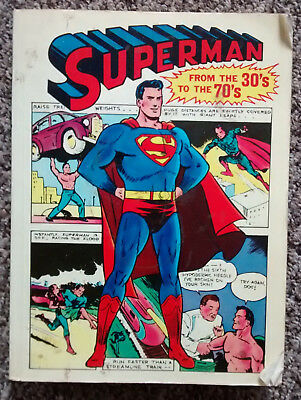 2 SUPERMAN BOOKS  30s to 70s    and  GIANT BUMPER BOOK 1970