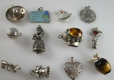 Various Charms Vintage Sterling Silver | Lot of 12 | 33.1 g