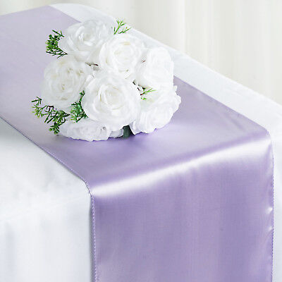 """Lavender SATIN 12x108"""" Table RUNNER Wedding Party Catering Decorations SALE"""
