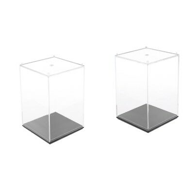 Pack of 2 Clear Display Show Case Small Acrylic Box for Model Collections