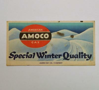 Vintage AMOCO American Oil Company Special Winter Quality Advertising Blotter