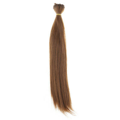 25x100cm Doll Straight Wig Hair Hairpiece for 1/3 1/4 1/6 BJD SD Doll Coffee
