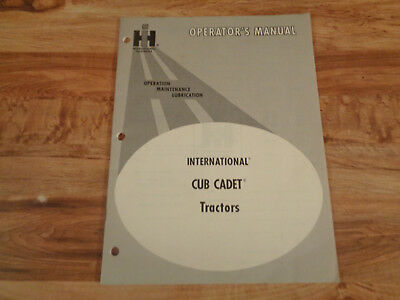 VINTAGE 1970 IH Operator's Manual International Cub Cadet Tractors ,