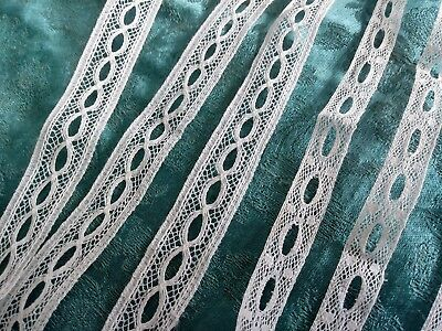"5/8"" French Val lace insertion antique  floral 6 yards +9"""