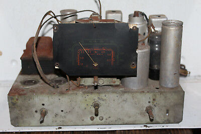Vintage RCA Victor Tube Radio Chassis Rare 135507 Black Dial Face