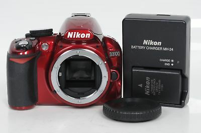 Nikon D3100 14.2MP Digital SLR Camera Body Red                              #117