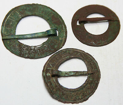 ANCIENT MEDIEVAL BRONZE FIBULA from northern Europe BIG SIZE 3pc