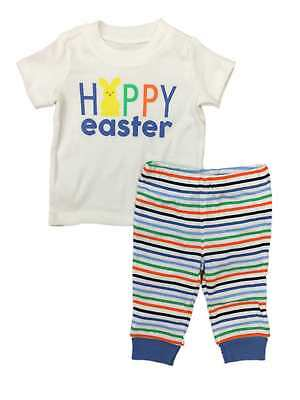 275e1ca58 Carters Infant Boys Happy Easter Baby Outfit Bunny Rabbit Shirt & Pants Set