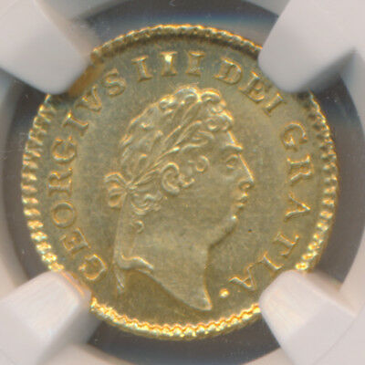 Great Britain George Iii Gold 1/3 Guinea 1800 Ngc Ms62