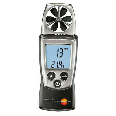 Testo 410-1 Vane Anemometer w/Integrated NTC Air Thermometer,Incl Protective Cap