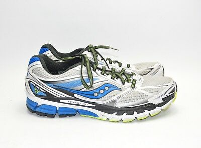 7c2def694798 saucony guide 8 running shoes SAUCONY GUIDE 8 Mens White Blue Silver Running  ShoeS 9.5M
