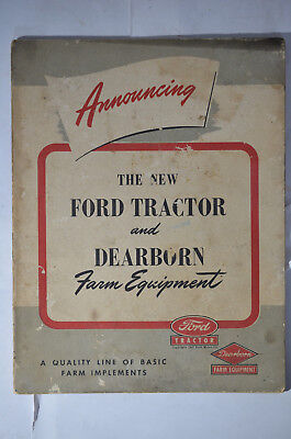 New Ford Tractor and Dearborn Farm Equipment, (1947), illustrated