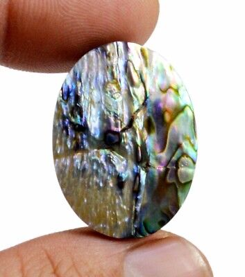 24ct Rare Natural Doublet Abalone Shell Oval Shape Cabochon Gemstone On Ebay
