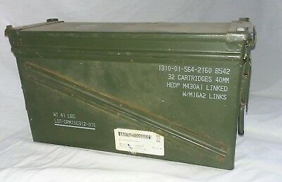 40mm M198 Steel Ammo Can US Military Surplus 18x6x10 Airtight Storage Container