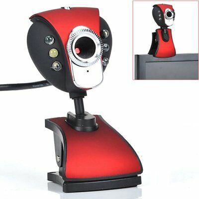 New USB 50.0M 6 LED Webcam Camera WebCam With Mic for Desktop PC Laptop O8V8