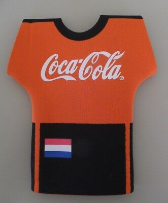 COCA-COLA Koozie Coozie for a Bottle, Netherlands soccer uniform, Insulator