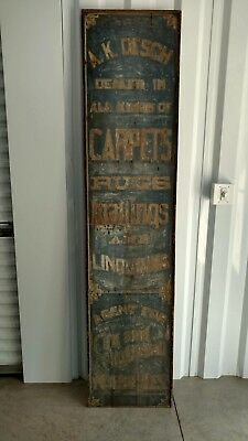 Large Primitive Advertising Sign TRADE SIGN