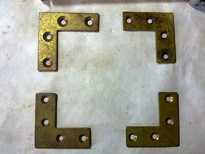 brass box corner supports, one is different, vintage